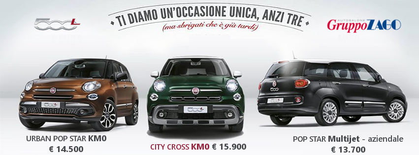 Fiat 500L in promozione da Gruppo Zago a Bovisio Masciago