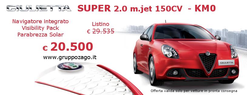 Alfa Romeo Gulietta Super KM0 al Gruppo Zago