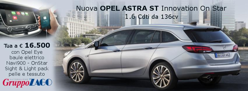 Opel Astra Sports Tourer in promozione da Gruppo Zago