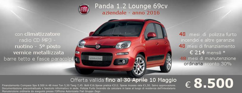 Fiat panda Lounge a 8.500 da Gruppo Zago