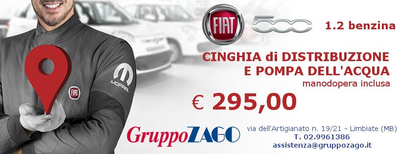 Cinghia distribuzione Fiat 500 € 295 da Gruppo Zago