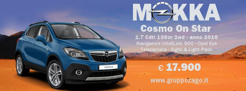 Opel Mokka Cosmo OnStar aziendale - al Gruppo Zago