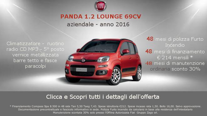 Fiat Panda 1.2 Lounge aziendale al Gruppo Zago