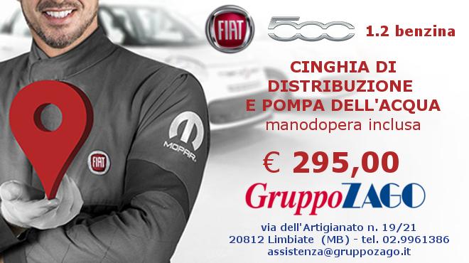 Cinghia di distribuzione per Fiat 500 € 295 - da Gruppo Zago
