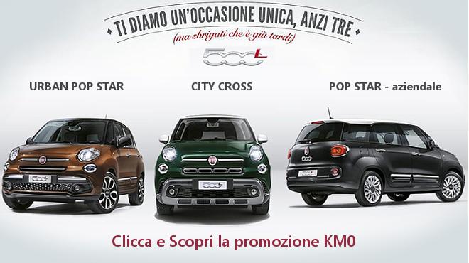 Tutta la gamma Fiat 500L in promozione da Gruppo Zago